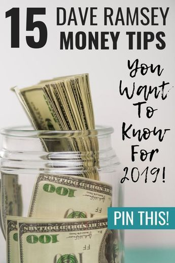 15 Money Tips Dave Ramsey wishes everyone all had fun …