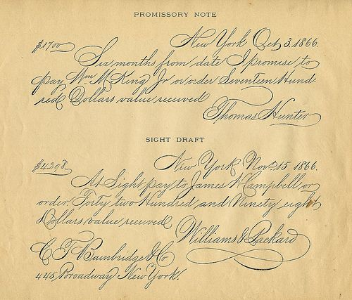 59 best Vintage Music \ Script Sheets images on Pinterest - promissory notes