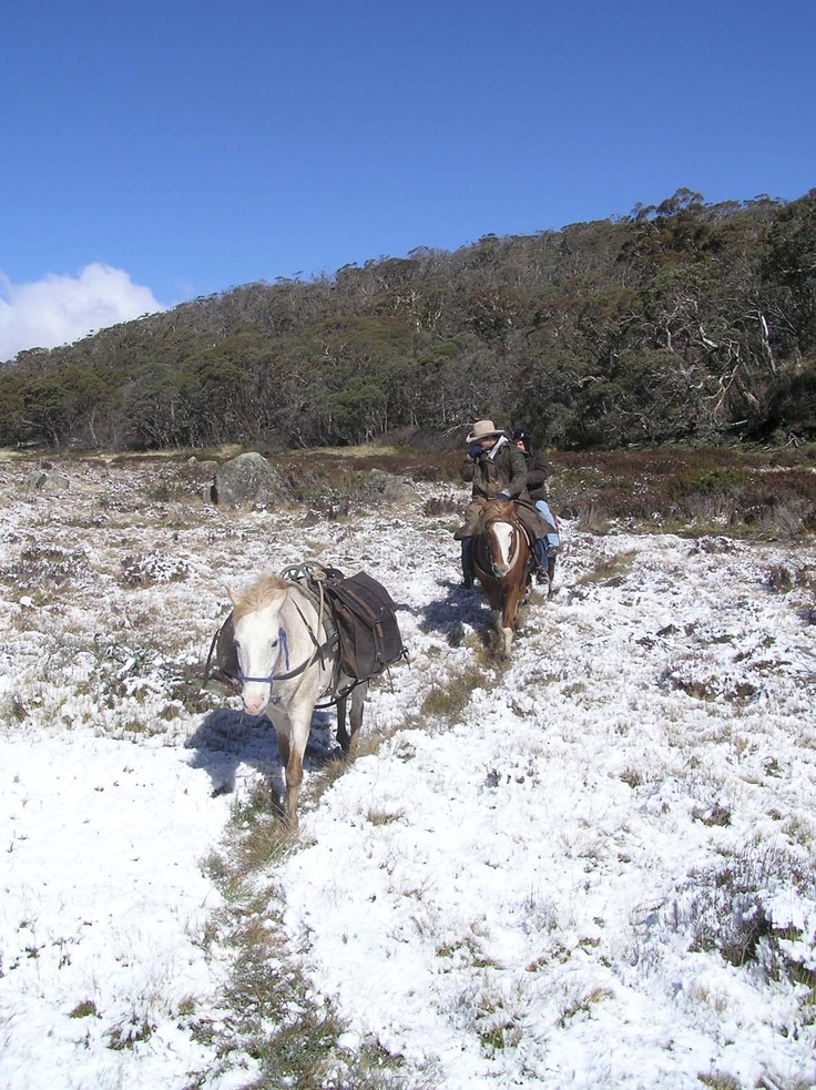 A horse-riding adventure through the high country gives riders a taste of one of Australia's most enduring legends.