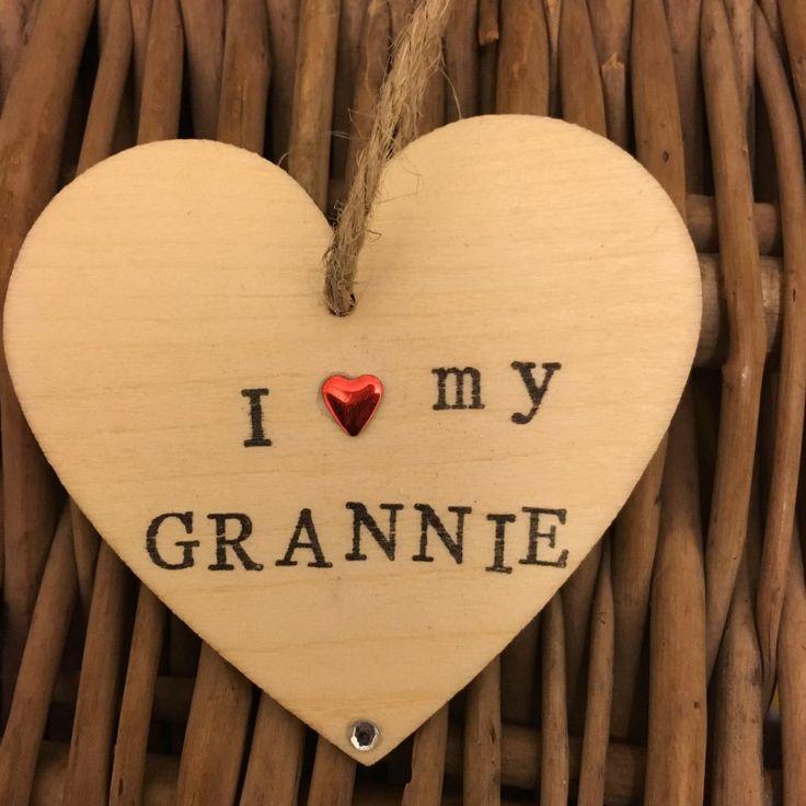 I Love My GRANNIE Hanging Heart