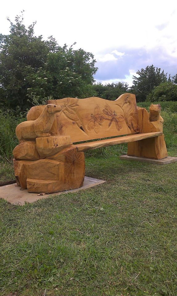 Best images about chainsaw carved outdoor furniture on