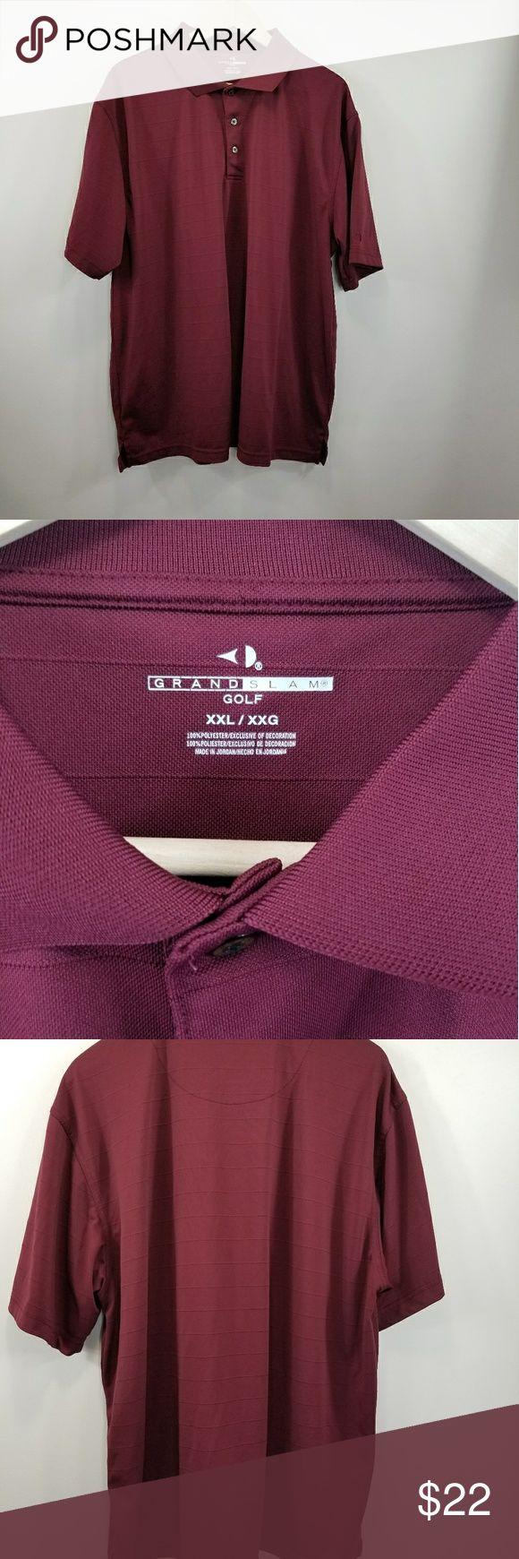 Maroon Grand Slam Golf Polo Shirt 2 XL This is a 2XL Maroon Grand Slam Golf short Sleeve polo shirt Grand Slam Shirts Polos