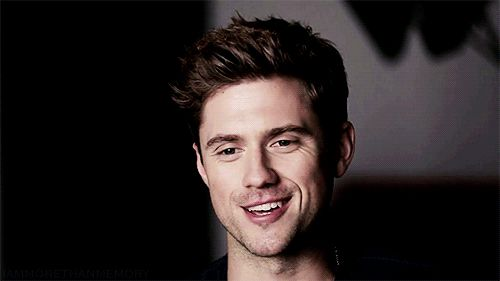 """A bit of sunshine to brighten your day"" Aaron Tveit Gif"