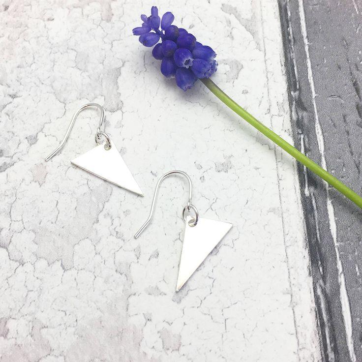 Triangle Earrings, Geometric Earrings, Silver Triangle Earrings, Triangular Earrings, Irregular Earrings, Geometric Jewellery by RubyandWonder on Etsy https://www.etsy.com/uk/listing/506438201/triangle-earrings-geometric-earrings