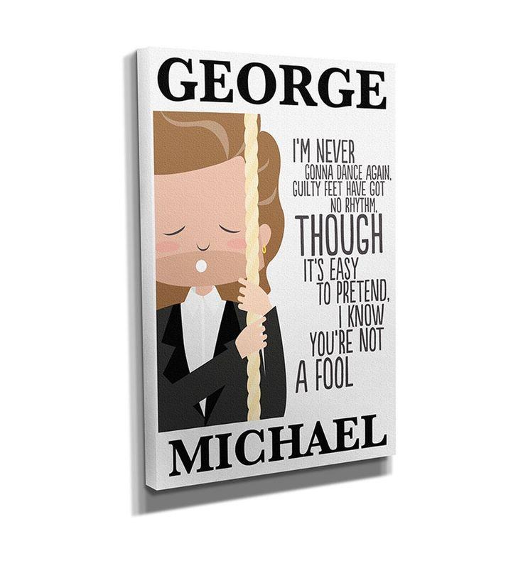 George Michael Carless Whisper Lyrics Canvas Print