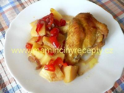 Kuře na bramborách