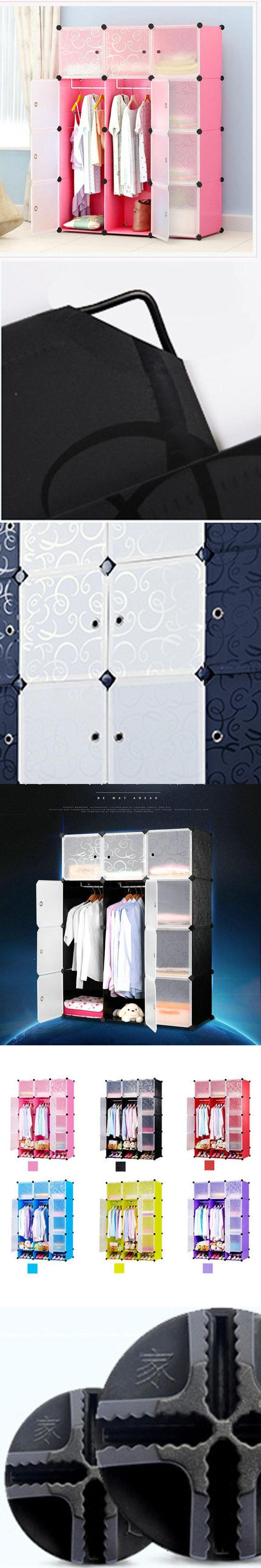 DIY magic piece of plastic storage cabinets Children's wardrobe simple wardrobe assembled resin composition of steel wardrobe