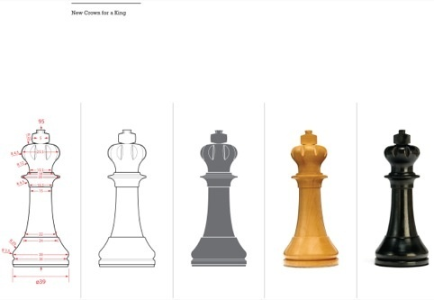 Designing the King - World Chess Set by Daniel Weil