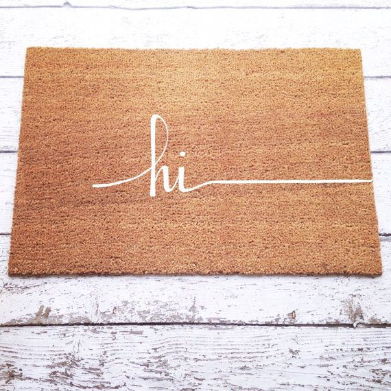 ☺Hi Doormat  ❶Details ○ Coir fiber rug with a latex bottom backing (to prevent slipping) ○ Super heavy duty construction & made with quality materials
