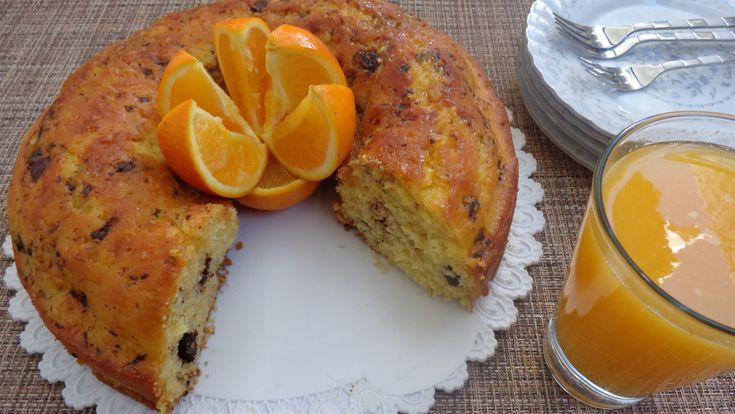 Cake à l'orange moelleux aux pépites de chocolat1