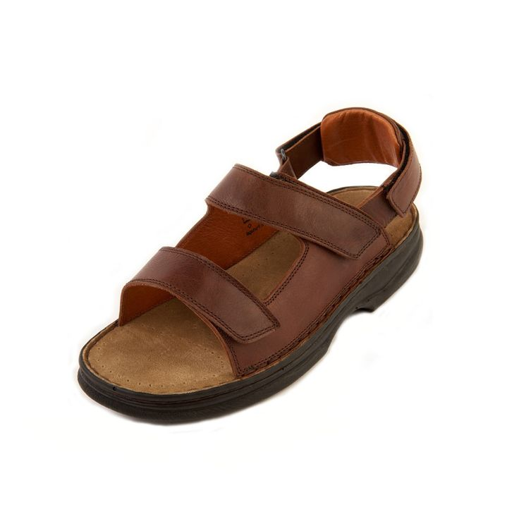 Mens Shoes 8 Leather Brown Suede Sandals Summer Velcro Adustable