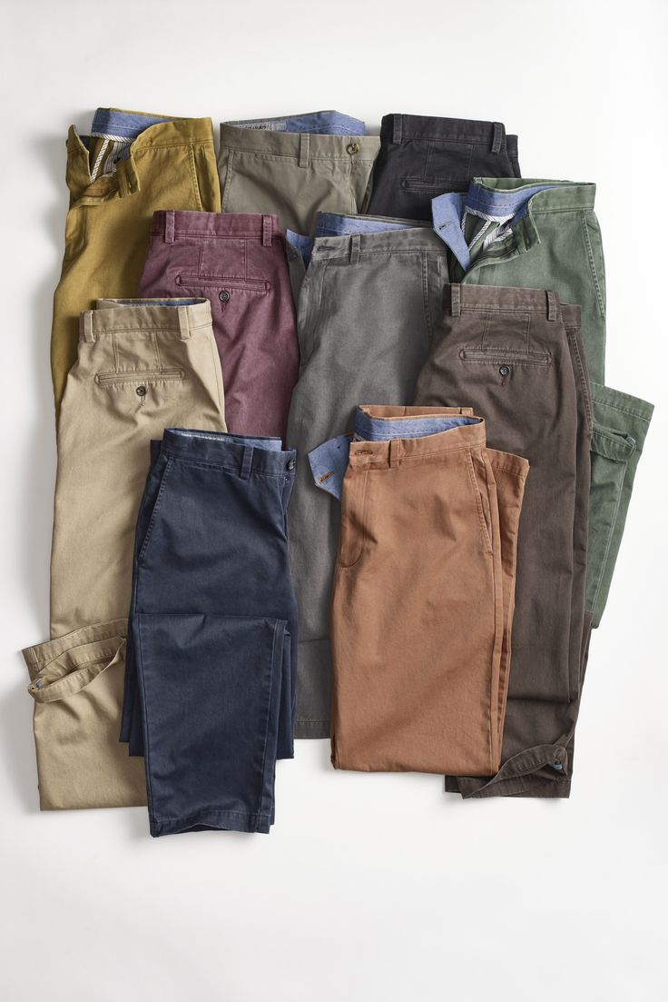 Soft From Day One: Chinos made with pima cotton twill and garment washed to feel like favorites.