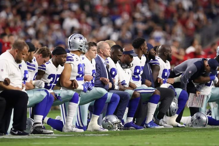 """It's a fire President Donald Trump resparked — and continues to fuel — that people have lost their damn minds over. But basically it started last week, when Trump said that anyone who does not kneel during the national anthem is a """"son of a bitch"""" who should be fired."""