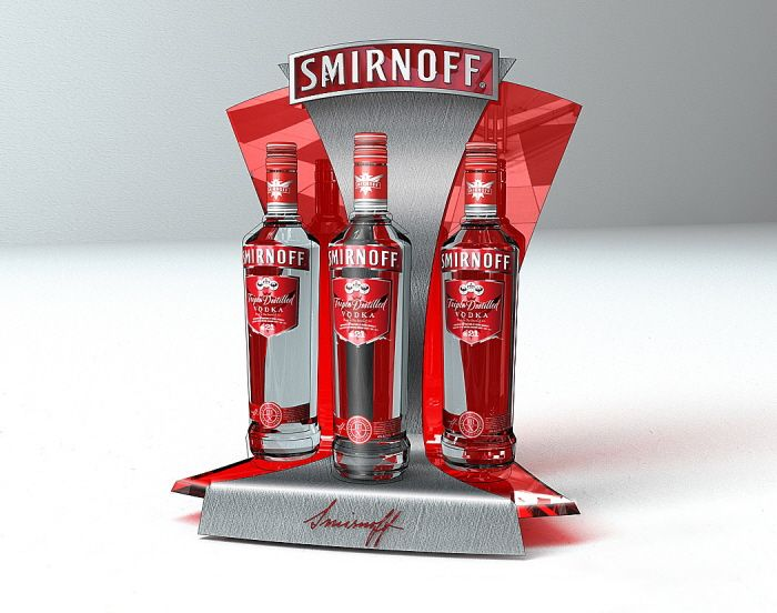 Point of Purchase Design | POP | POSM | POS | POSM | Smirnoff by Bora Turkoglu…