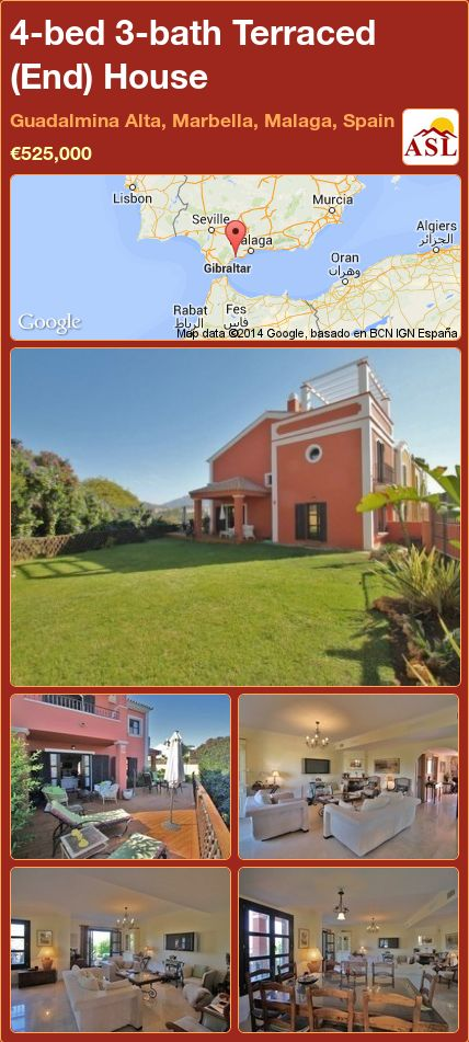 4-bed 3-bath Terraced (End) House in Guadalmina Alta, Marbella, Malaga, Spain ►€525,000 #PropertyForSaleInSpain
