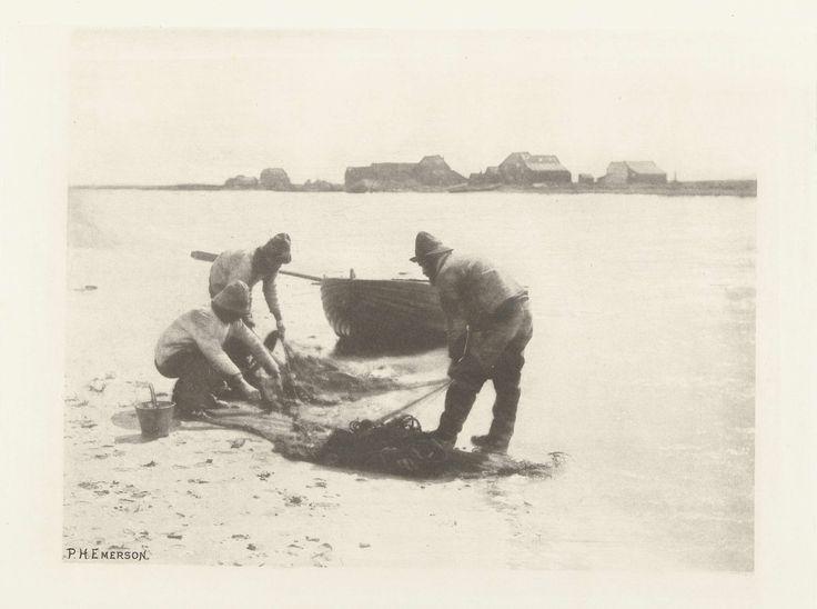Vissers op het strand, Peter Henry Emerson, Searle,