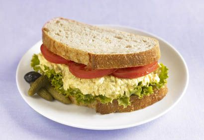 EGGLESS EGG SALAD - unless you are crazy about onion,add Less  than this recipe calls for, do add relish, and some nayonnaise or Miracle Whip.