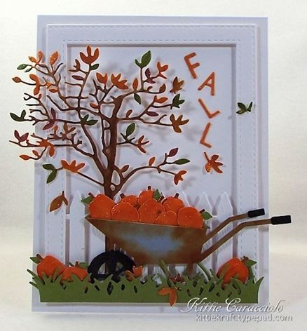 """KC-Impression Obsession """"Fall Colors"""" Challenge & Splitcoaststampers Dare To…"""