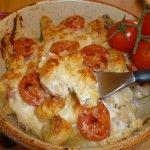 Gnocchi di pane con pancetta e pomodorini al gratin