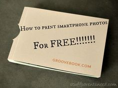 How to print your smartphone photos for FREE! What an easy and thoughtful (and cheap!) gift idea! Great for printing the Christmas photos, too!