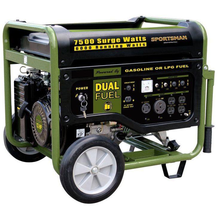 Sportsman 7500 Watt Dual Fuel Generator - GEN7500DF