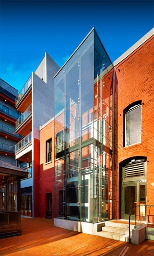 Alhambra glass elevator - acton ostry architects - Glotman Simpson structural engineers