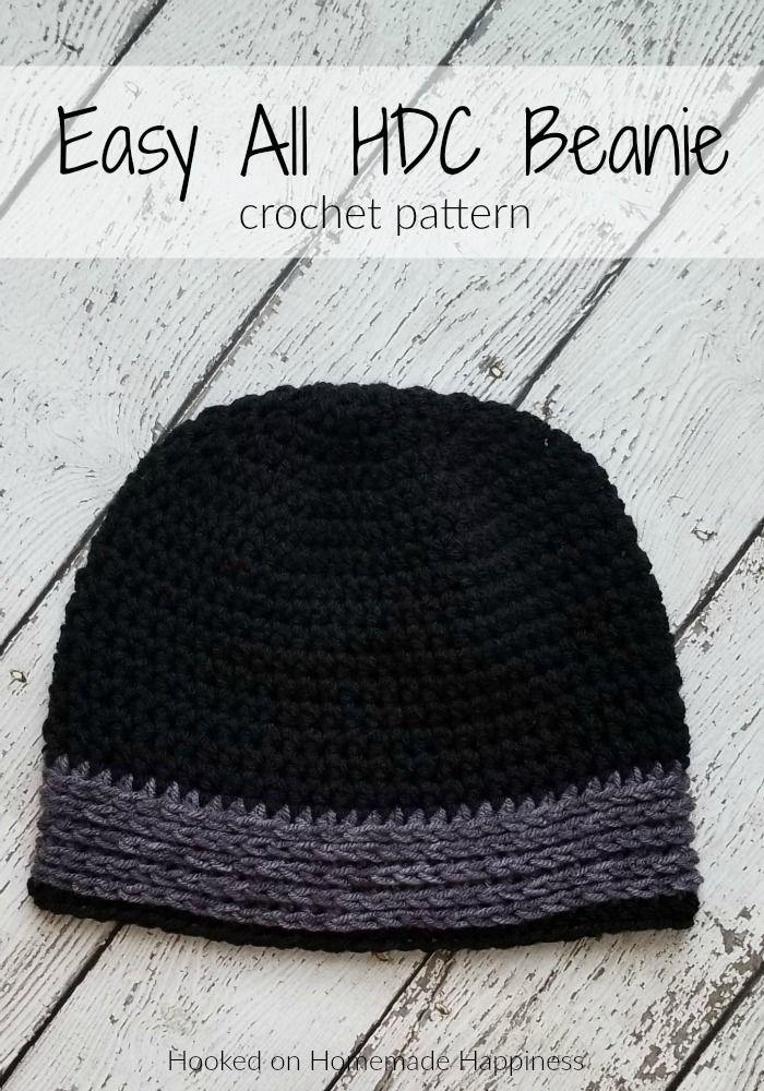 Easy All HDC Beanie Crochet Pattern – The Easy All HDC Beanie Crochet Pattern is…