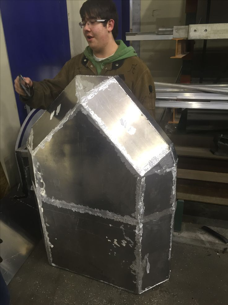 Aluminum sled we made in welding class #welding class