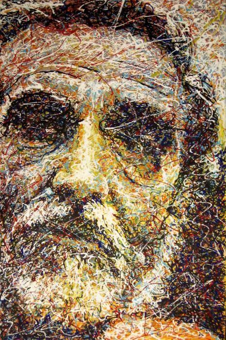 """""""GASSMAN"""" Pittura, Ritratto, Acrilico, MDF, 40x60cm, 2009 contatti:  studio.montanaro.mt@gmail.com tel.0835 312459"""