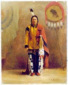 Сидящий Бык. Восковая фигура в Музее Южной Дакоты