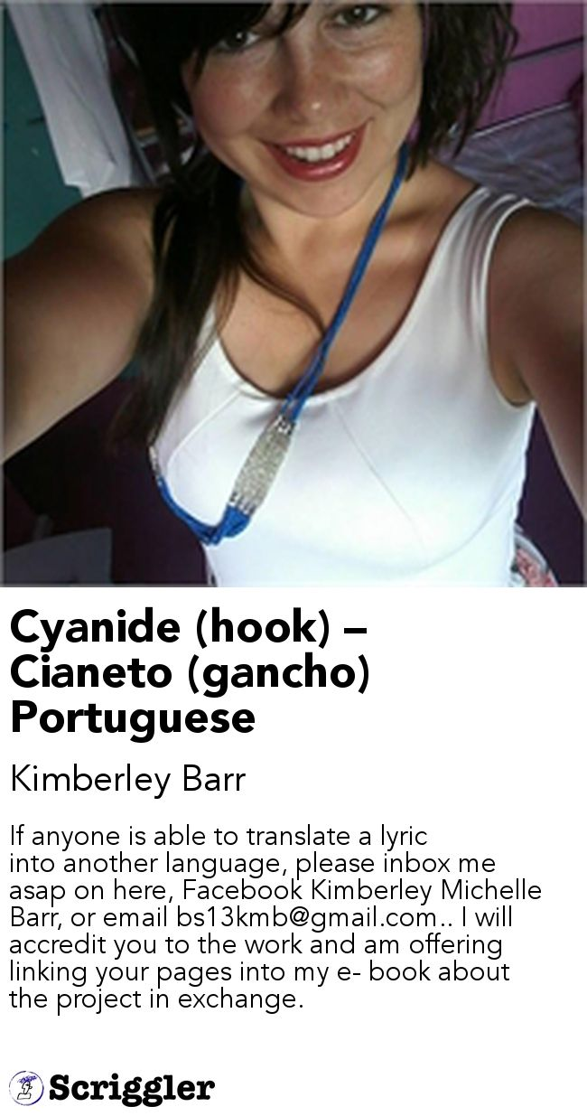 25 unique hook lyrics ideas on pinterest messy bun hats cyanide hook cianeto gancho portuguese by kimberley barr httpsscrigglerdetailpoststory114810 if anyone is able to translate a lyric into hexwebz Image collections