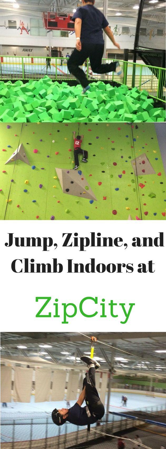 Jump, zipline, and climb indoors at ZipCity in Cincinnati