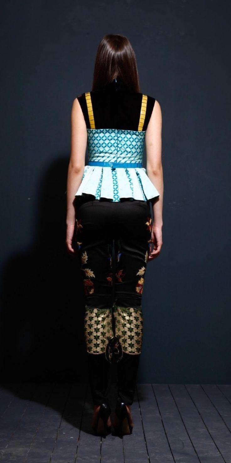 Pleated Silk Top on TROVEA.COM