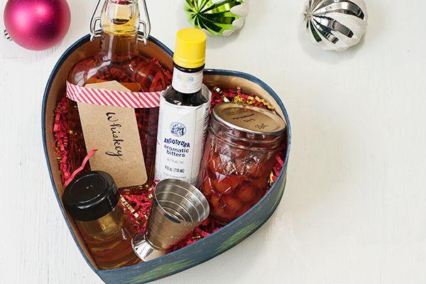old fashioned + manhattan diy gift box