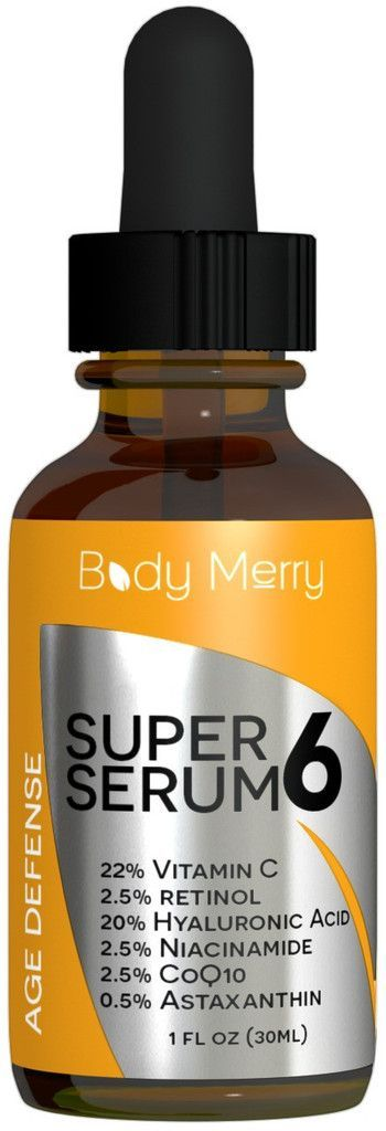 Age Defense Super 6 Serum by Body Merry turns back the hands of time and leaves your skin brighter, smoother and more youthful!    On sale for $18.95