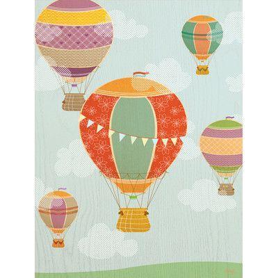 Oopsy Daisy Balloon Ride Canvas Art