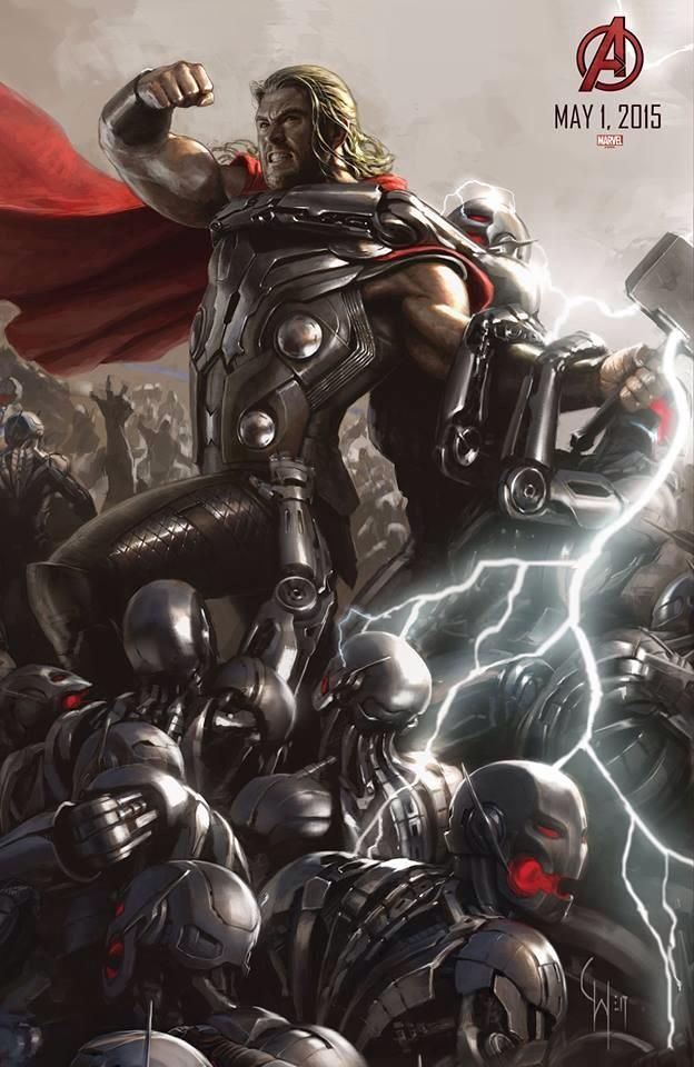Concept Thor art from Avengers: Age of Ultron.