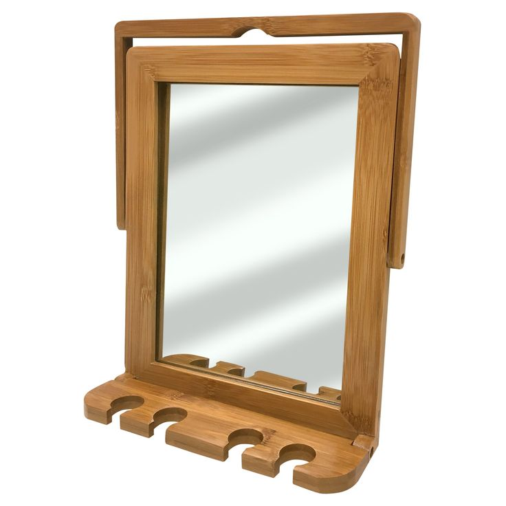 Bamboo Mirror with Wire Hook Bamboo - Spa Sensations