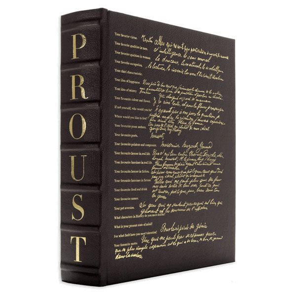 .: Silver Foil, Vellum Paper, Brown Books, 29500 Books, Proust Questionnaire, Leather Bound Proust, Books Assoulin, Beautiful Books, Questionnaire Books