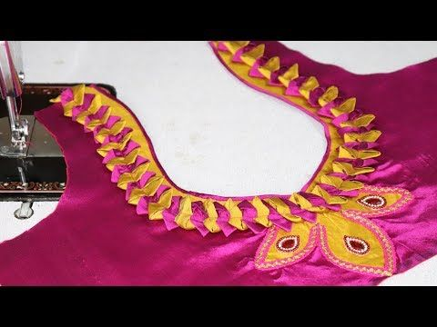 e8789bd684 How to Cut and Stitch Easy Patch Work Design || Latest Patch Work Designs  || New Blouse Design Models || DIY IDEA Blouse Designs ...