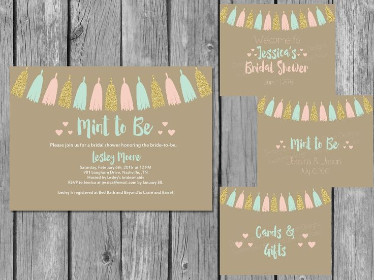 This is such a cute idea! Coordinating printable Mint to Be bridal shower bundle. All customized for you; all you have to do is print.