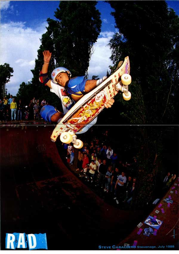 My favorite back in the day...Steve Caballero : July 1988