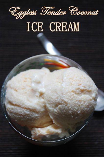 YUMMY TUMMY: Eggless Tender Coconut Ice Cream Recipe - All Natural & No Preservative