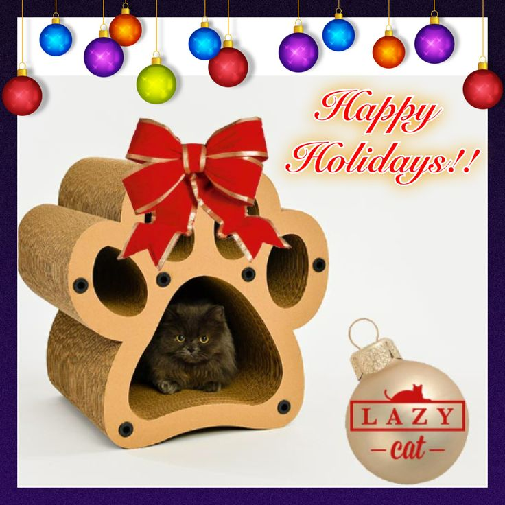 Give your favourite furball the gift of their very own cardboard furniture this holiday season! Visit www.lazycatstore.com to check out what we have in store for kitty! #LazyCat #CatLove #HappyHolidays #CardboardFurniture #DesignedWithLove #MadeInCanada