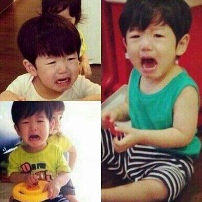 Baekhyun- he looks like he was such a loud and needy baby! XD