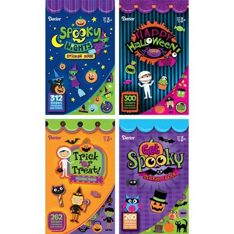 Bulk Buy: Darice Crafts for Kids Halloween Sticker Books 4 Assorted Styles  6 pages per