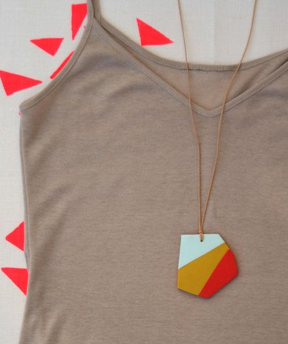 geometric not quite triangles necklace
