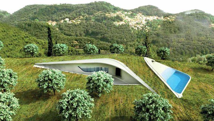 Villa Ypsilon: una casa subterránea y ecológica en Grecia @alvarodabril
