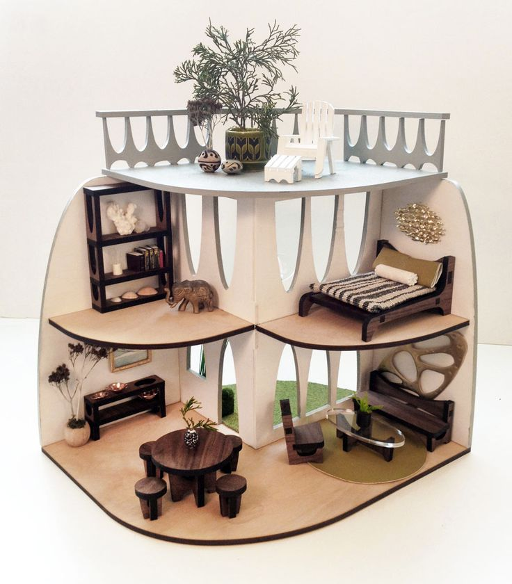 A beautiful laser cut dollhouse for kids and collectors alike with matching  furniture. 25  unique Modern dollhouse furniture ideas on Pinterest