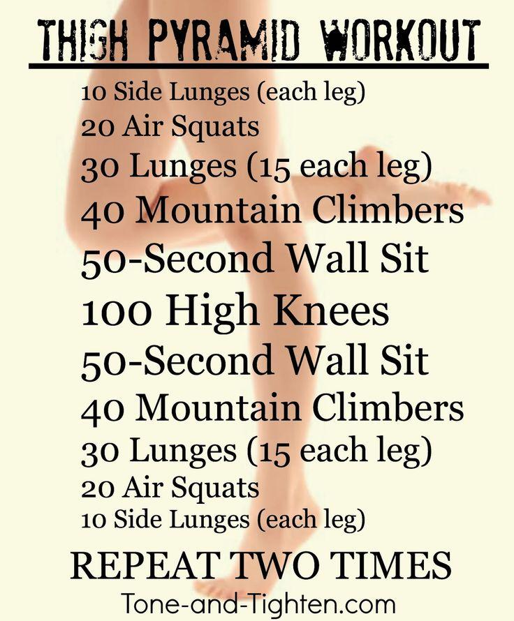 Thigh Pyramid Workout - Tone & Tighten